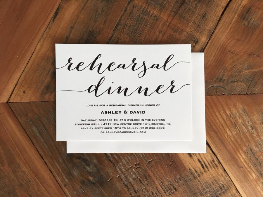 modern calligraphy style font rehearsal dinner invitation simple calligraphy baby shower invitation party invitation bridal shower
