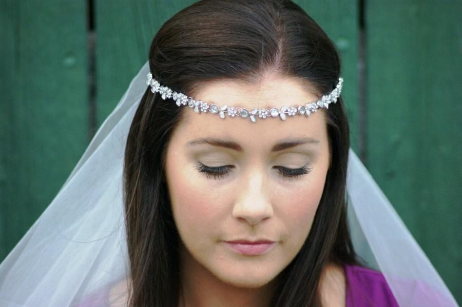 Mariage - Bachelorette veil - Hen Party Veil - classy unique vintage flower boho / stylish headband bridesmaid bride wedding