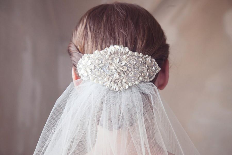 Свадьба - Pearl and Crystal Bridal Headpiece, Rhinestone Hair Comb, Pearl, Crystal Bridal Hair Accesories, Silver Wedding Hair Piece - Style 309