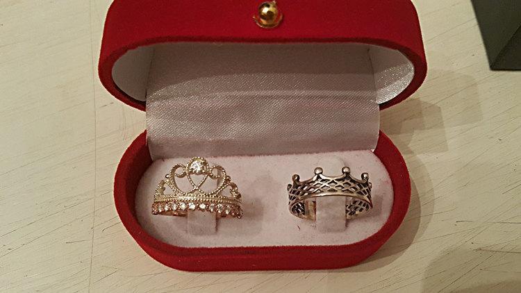 King Amp Queen Set Crown Ring King Ring Princess Ring