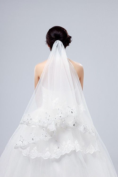 Свадьба - Beauty One-layer Lace Veil