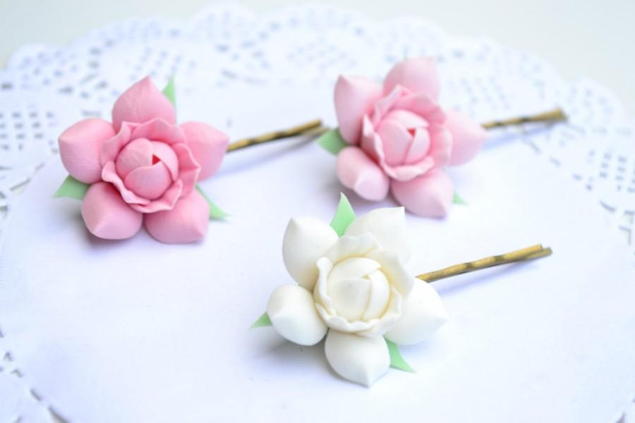 White light pink gardenia flower floral hair clip bobby pin wedding white light pink gardenia flower floral hair clip bobby pin wedding bridal flower gardenia hair clips polymer clay flowers hair clips mightylinksfo