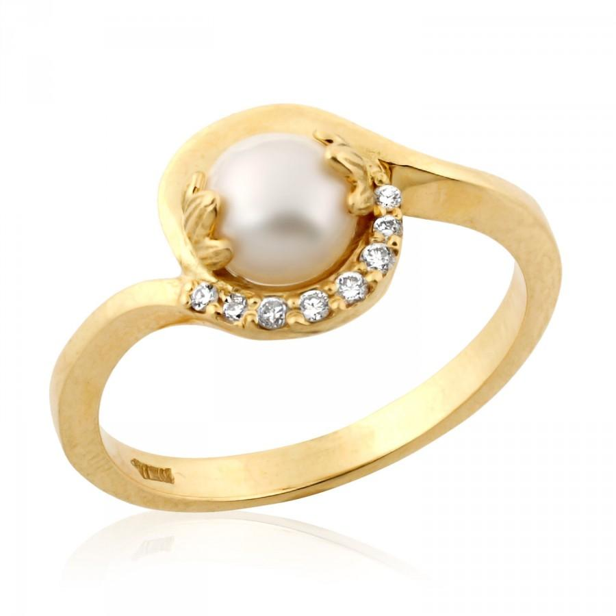 diamond rings halo white ring june pearl birthstone gold pin and size engagement gem