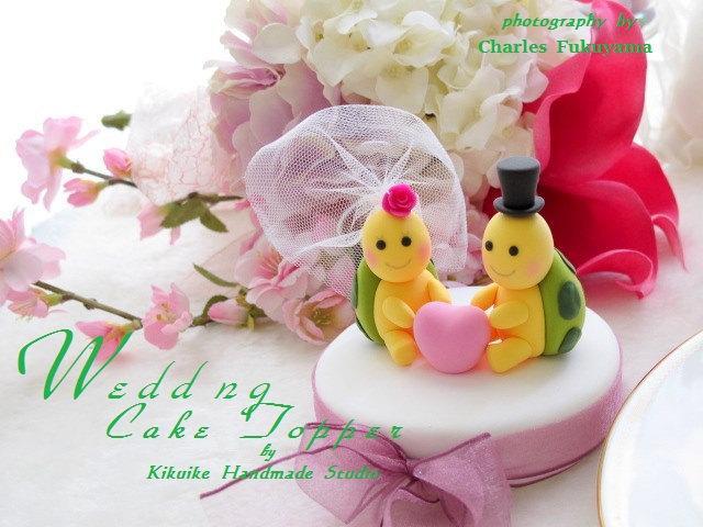 Mariage - turtles Wedding Cake Topper-love turtles----k638