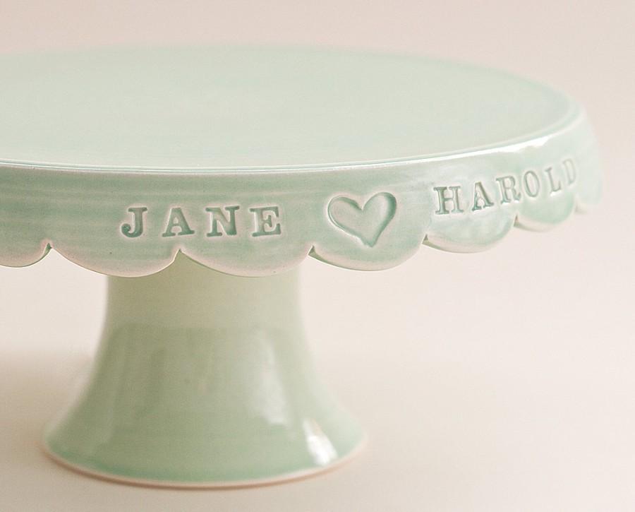 Свадьба - Custom Wedding Cake Stand - 8 inch - color options