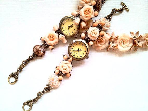 Wedding - Bracelet Watch, Made to Order, Bridal Accessories, Womens Watch, Gift Idea, Ladies Timepiece, Statement Jewellery