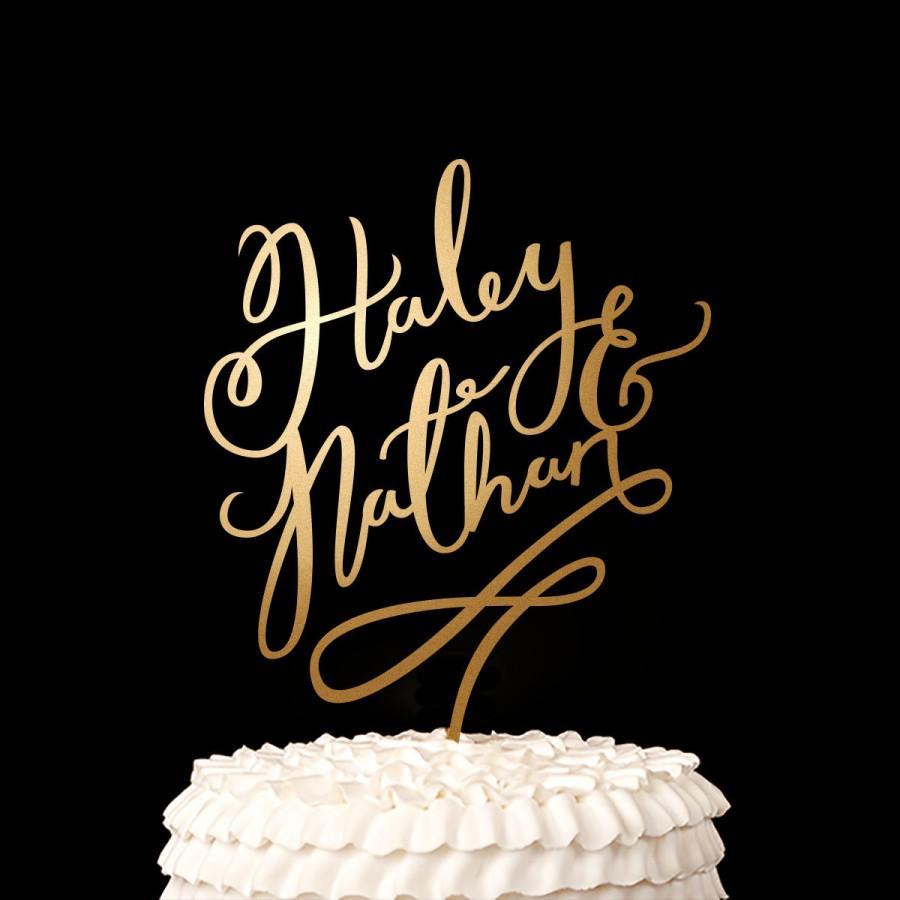 Hochzeit - Wedding Cake Topper - Custom Cake Topper - Joyful Collection