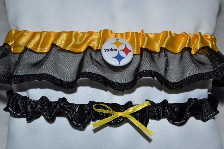 Mariage - Pittsburg Steelers football garter set