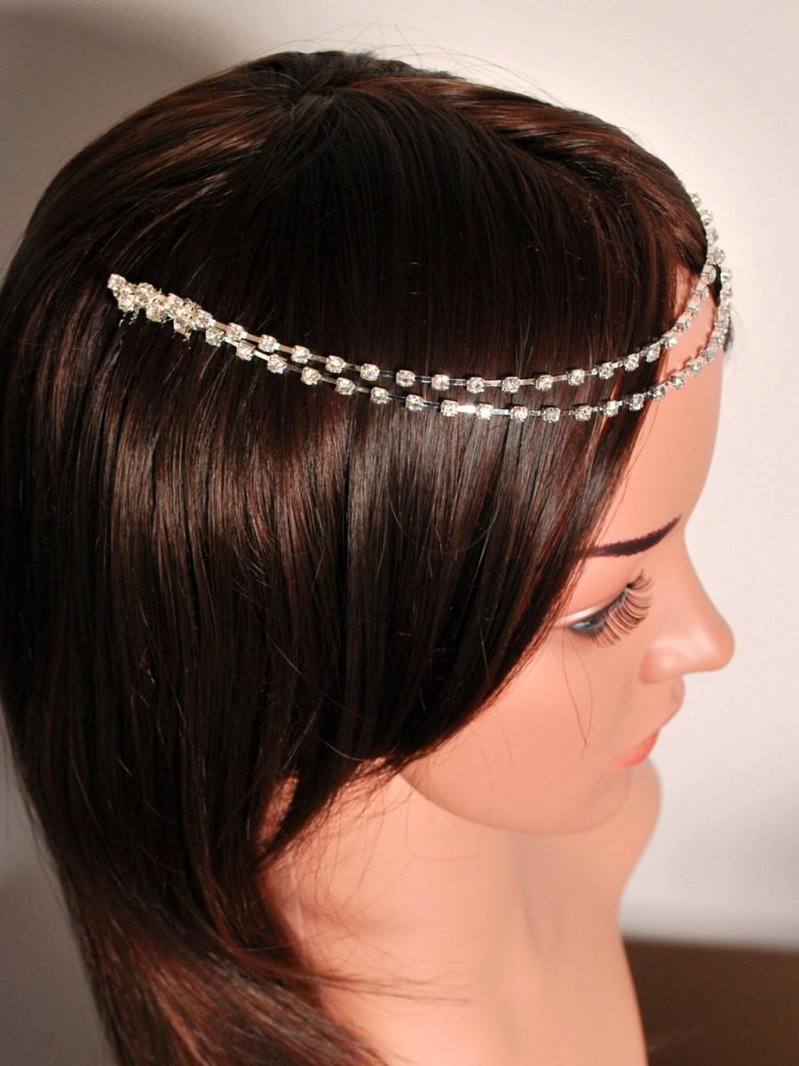 Head Jewelry Chain Forehead Hair Jewellery Diamante Wedding D Headpiece