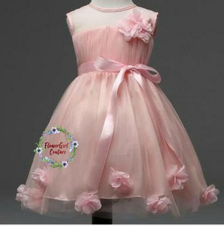 Свадьба - A Pretty Pink Flower dress Perfect for Weddings,Party or any Special Occasions