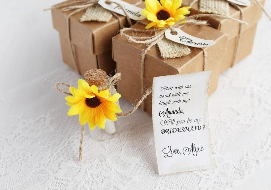 rustic bridesmaid invitation bridesmaid proposal gift asking