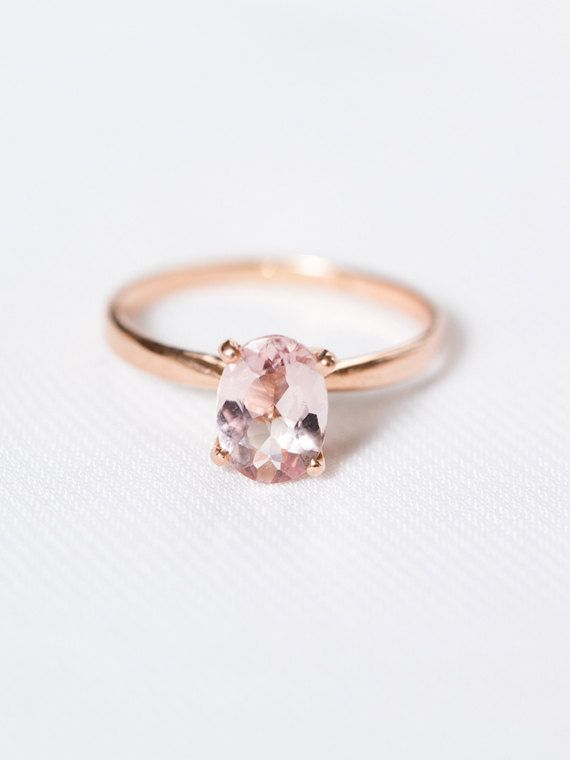 Wedding Theme Rose Gold Morganite Engagement Ring 2528014 Weddbook
