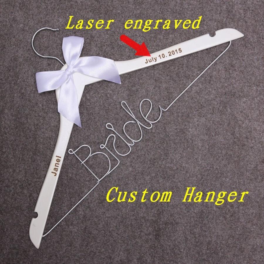 Wedding Dress Hanger Bride Custom Initials Best Wedding Gifts