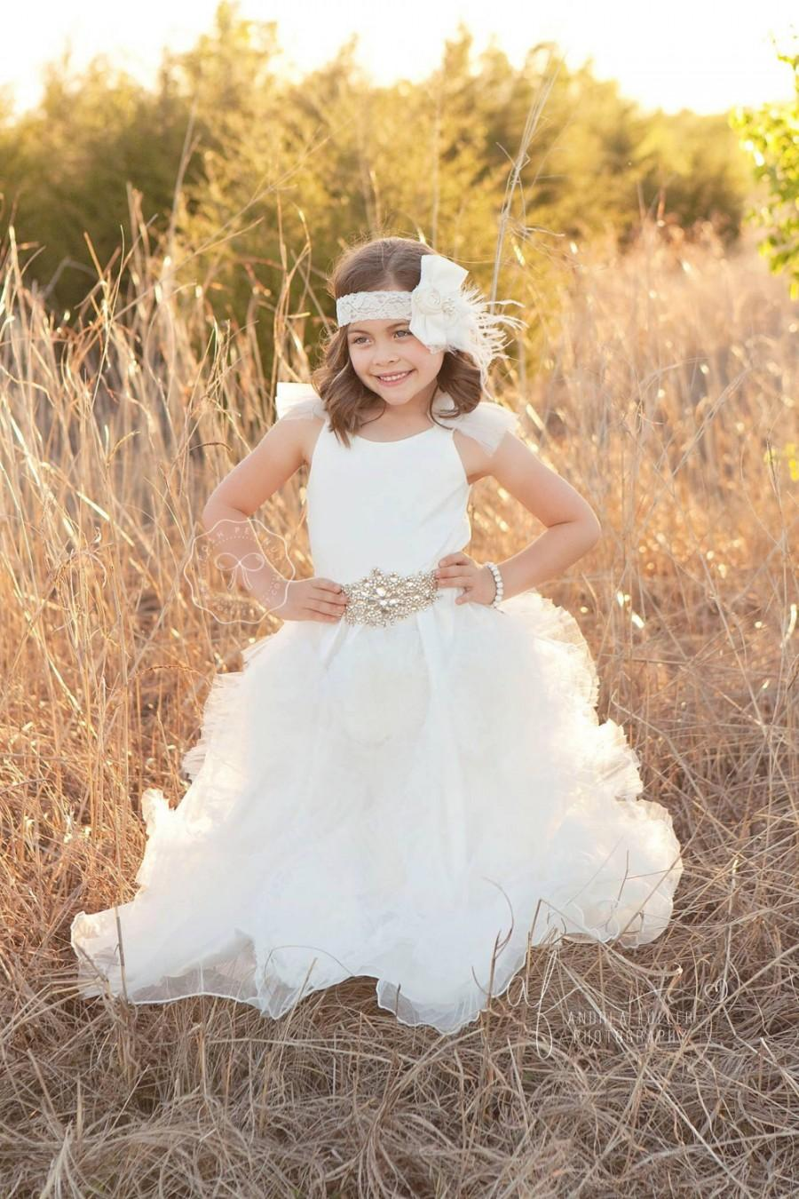 Flower Girl Dress Flower Girl Dresses White Flower Girl Dress