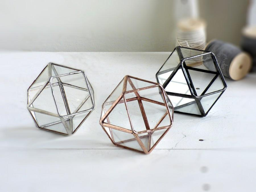 Wedding Ring Box One Mini Geometric Wedding Ring Box Use As A Ring