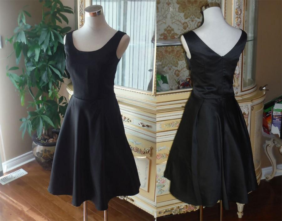 زفاف - 1950 dress, black bridesmaid dress, party dress, 50s dress - Plus size available