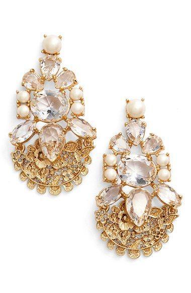 Свадьба - 'chantilly Gems' Crystal Drop Earrings