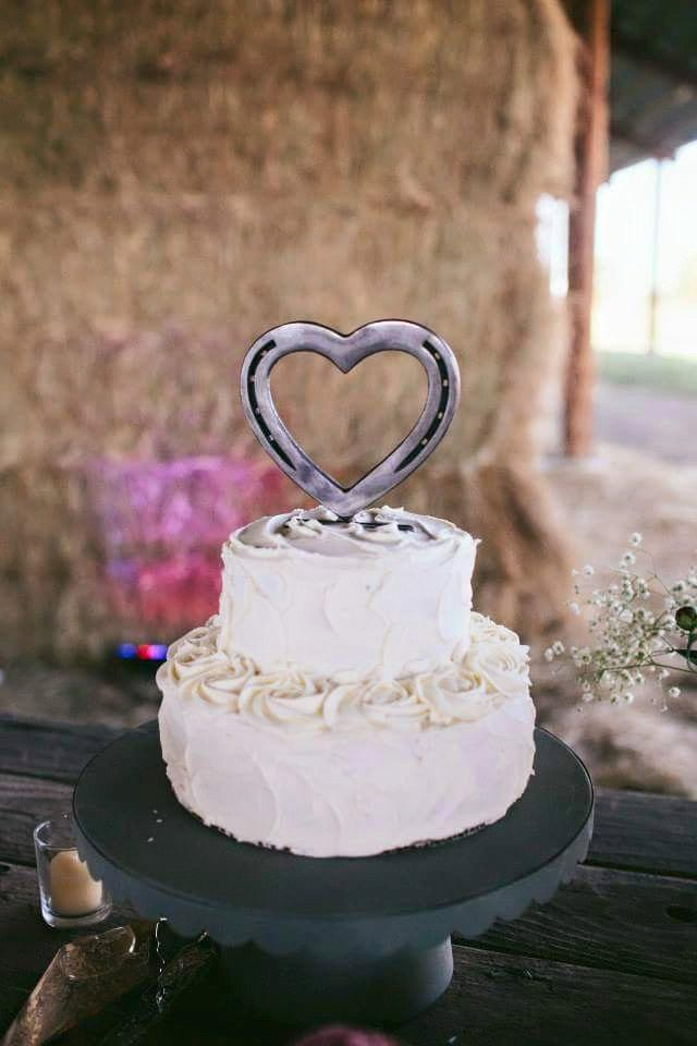 Wedding - Horseshoe Cake Topper