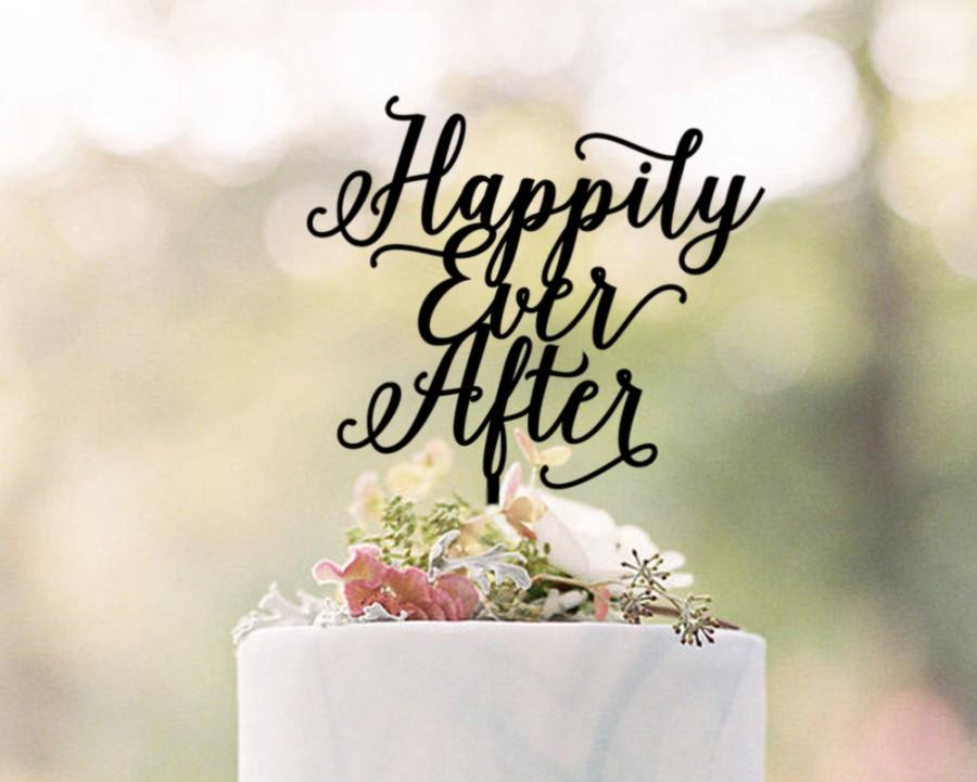 Hochzeit - Happily Ever After Cake Topper