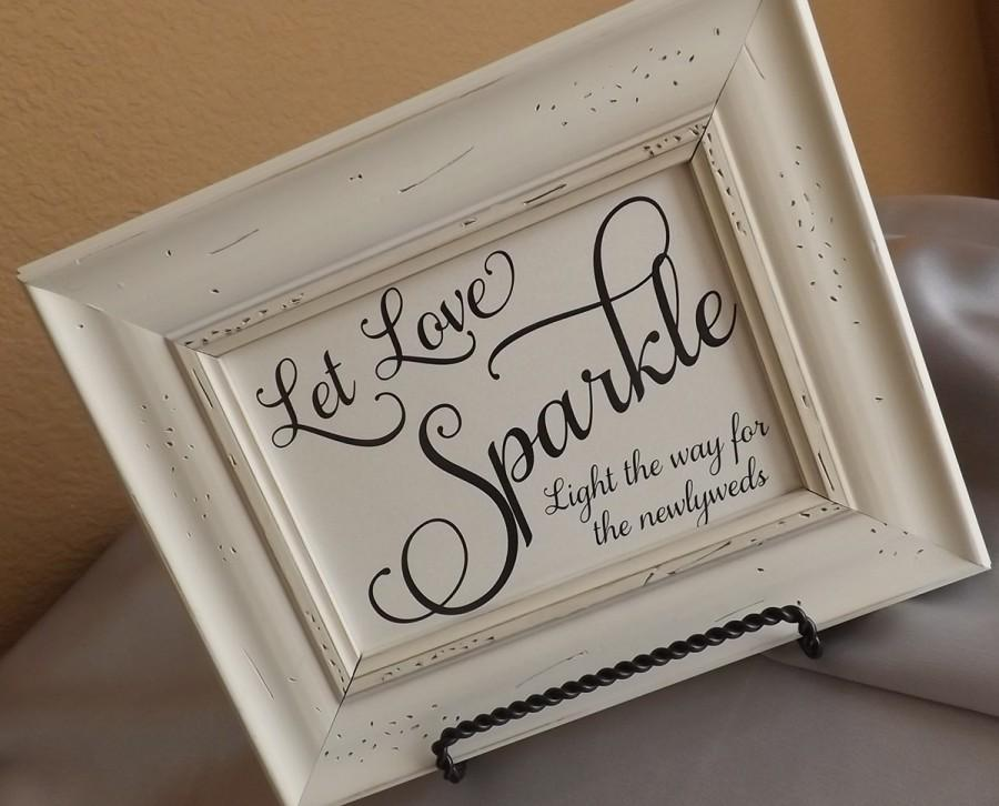 Mariage - Let Love Sparkle, Light the way for the newlyweds, 5 x 7 Send Off, NO Frame