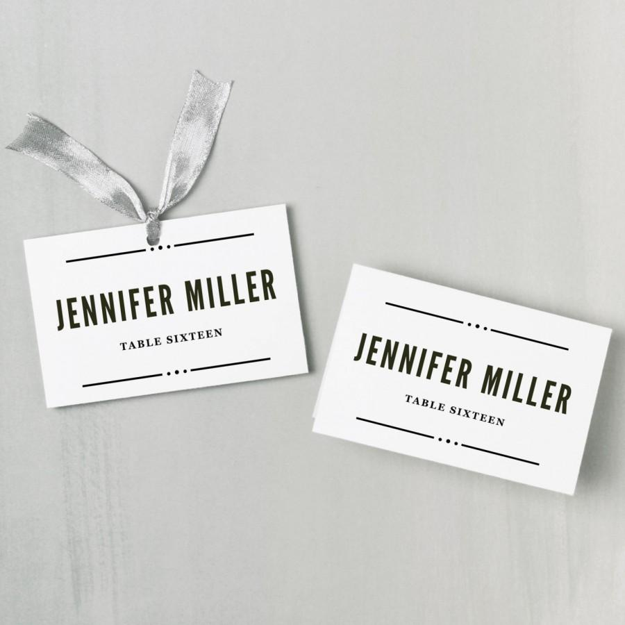 Invitation - Printable Place Card Template #2528486 - Weddbook