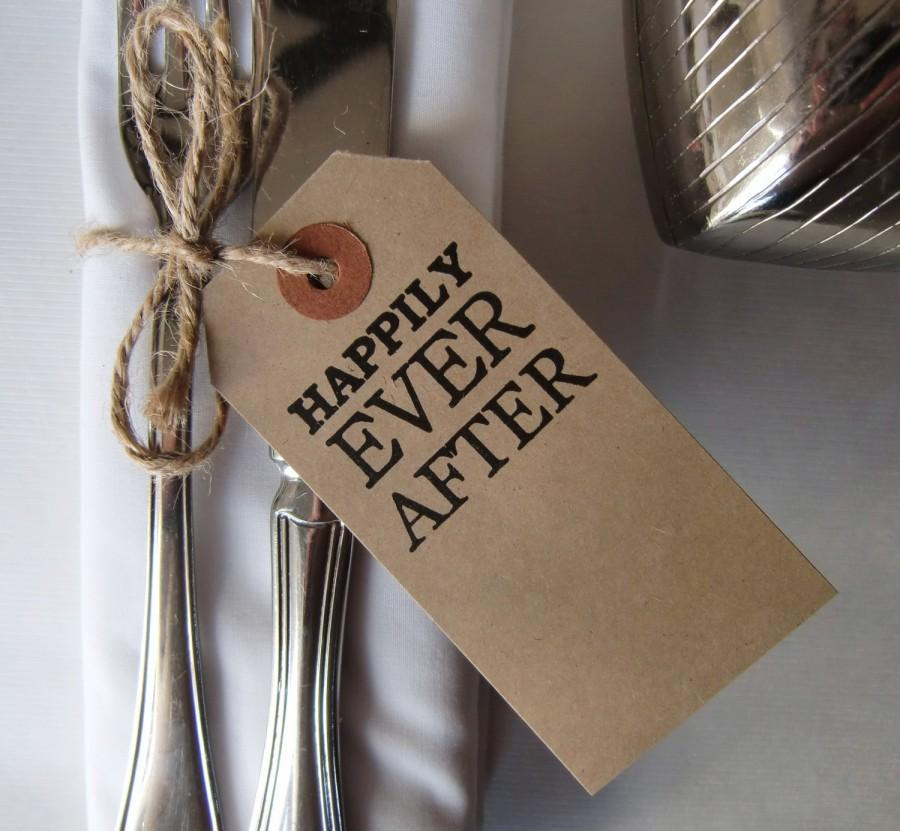 Wedding Table Decor Rustic Wedding Wedding Place Cards Vintage Style Tags Happily Ever After