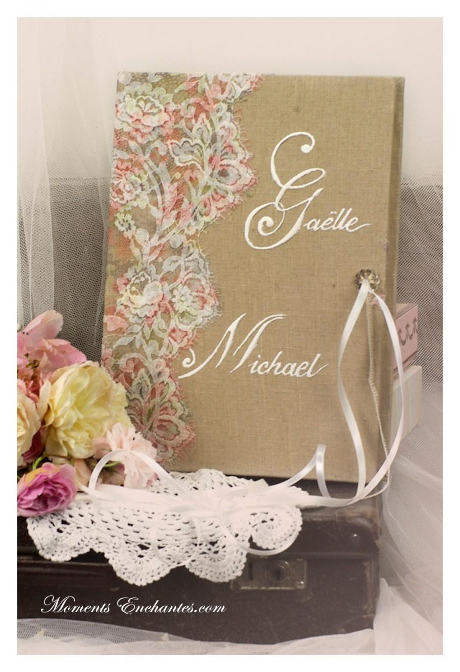 Mariage - Mariage dentelle Livre d'or