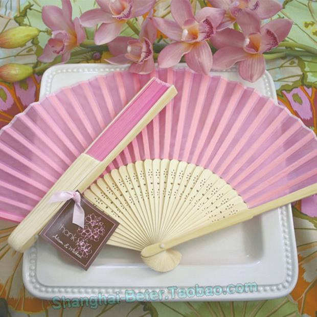 Wedding - Summer Silk Hand Fan Bachelorette Souvenirs Favours