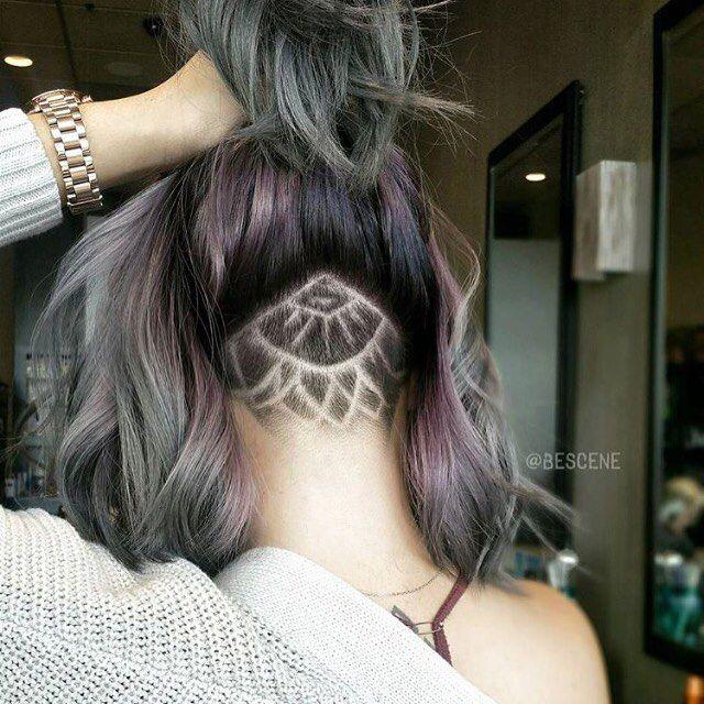 """Mariage -  For GIRLS BUZZCUTS On Instagram: """"Cool Undercut Nape Shave By @bescene    s   """""""