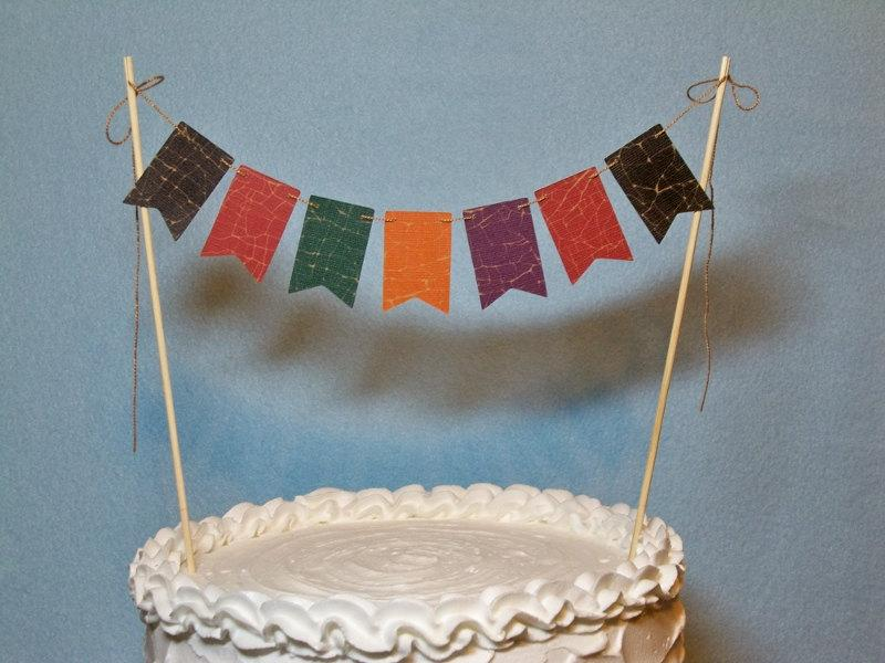 Fall Cake Topper Banner Autumn Cake Bunting Wedding Harvest