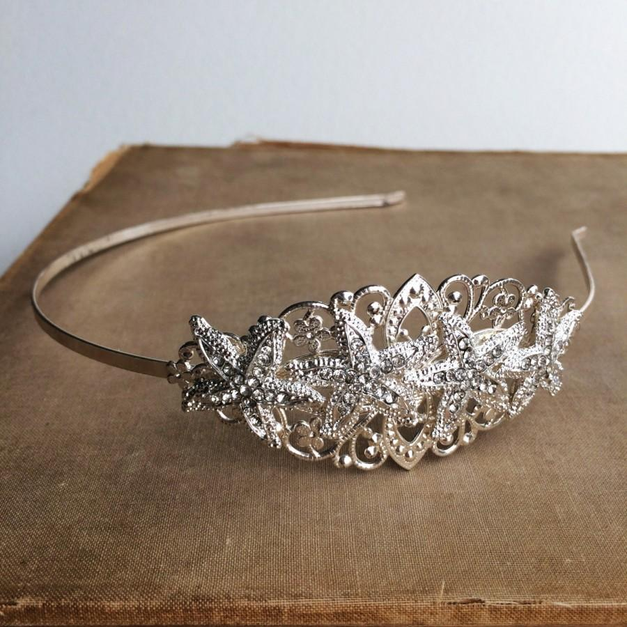 Beach Wedding Headband Hairpiecebeach Tiara Headpiece Hair Accessories SILVER