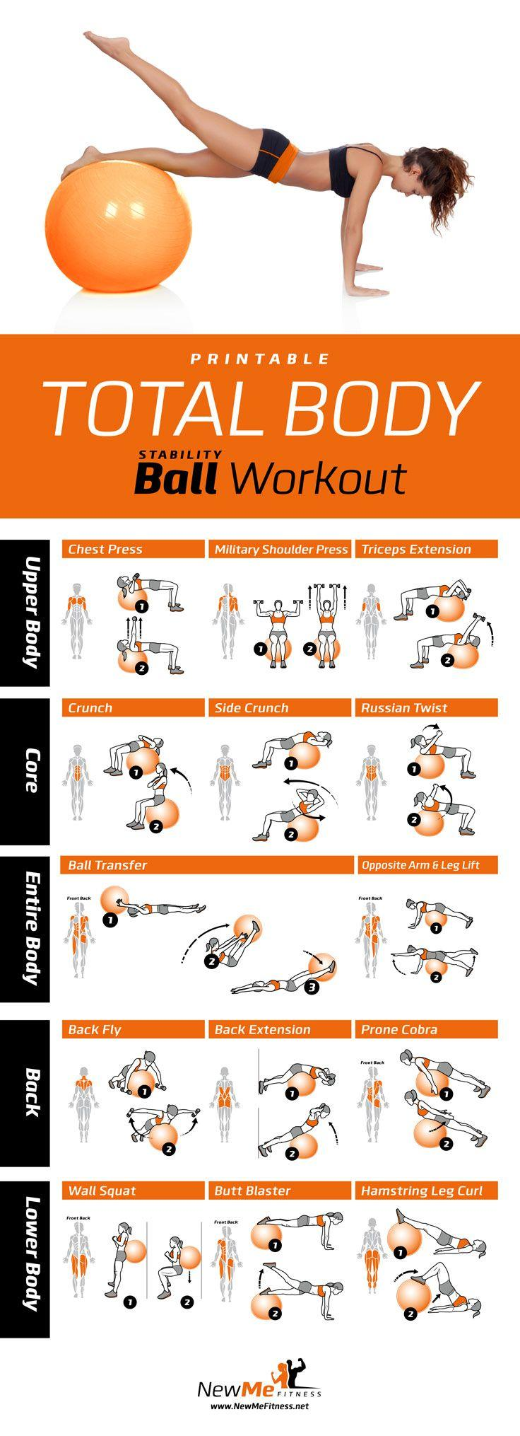 Delicate image inside printable exercise ball workouts