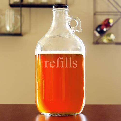 """Wedding - """"Refills"""" 64oz. Beer Growler"""