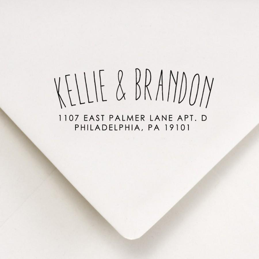 Свадьба - Return Address Stamp - Arc Style - Custom Stamp - Kellie and Brandon Design