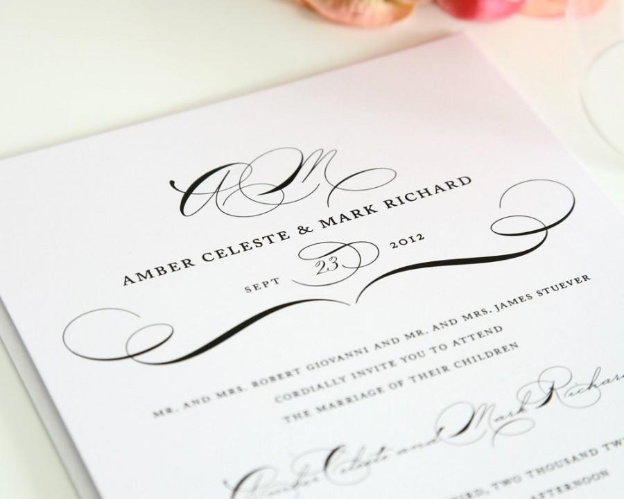 زفاف - Vintage Class Wedding Invitation - Elegant, Sophisticated, or Modern Vintage Wedding - Invitation Deposit