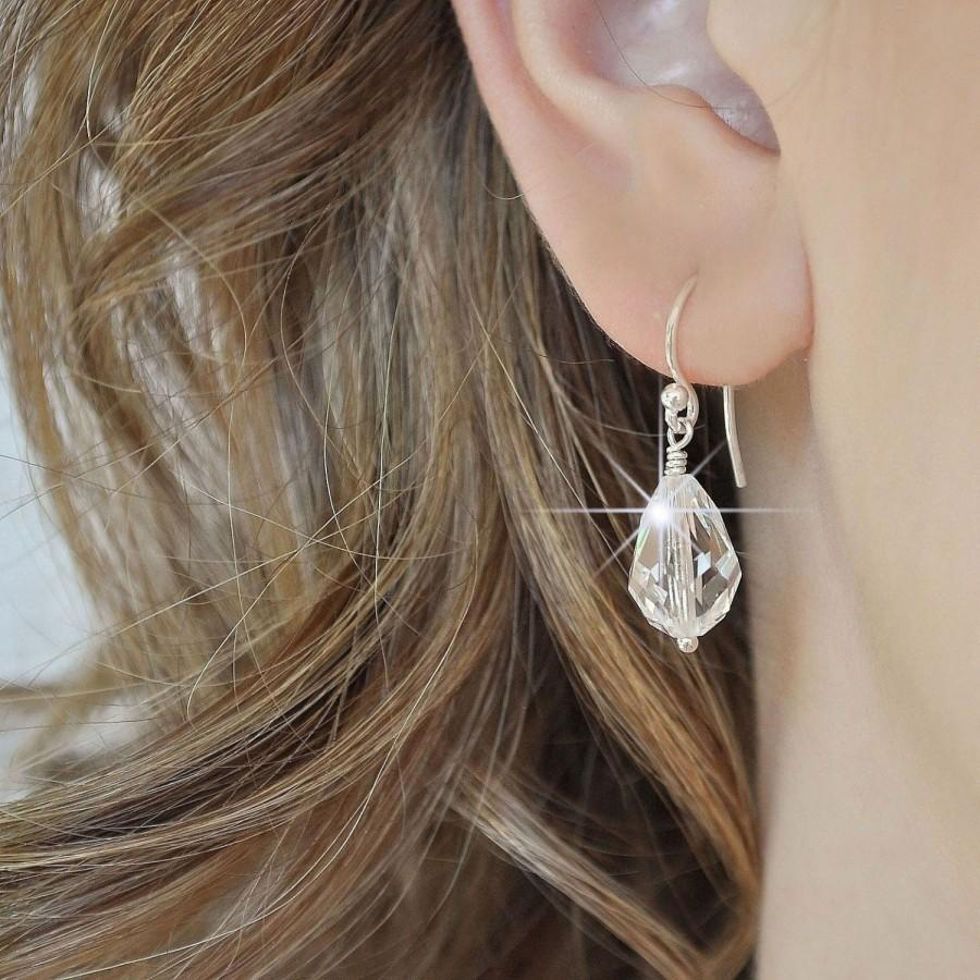 زفاف - Crystal Teardrop Earrings Bridal. Crystal Drop Earrings