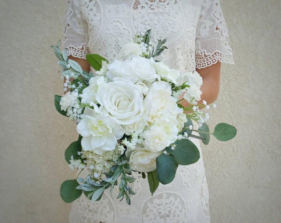 Wedding - Bridal Bouquets, Bridal Bouquet, Wedding Bouquets, Wedding Flowers, Artificial Wedding Bouquet, Bridal Flowers, Silk Flower Bouquet, Flowers
