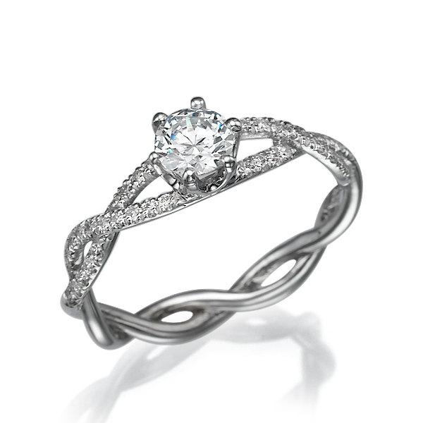 crossover halo wedding diamond cttw set tone engagement white gold braided sz ring rose rings two the round bc product