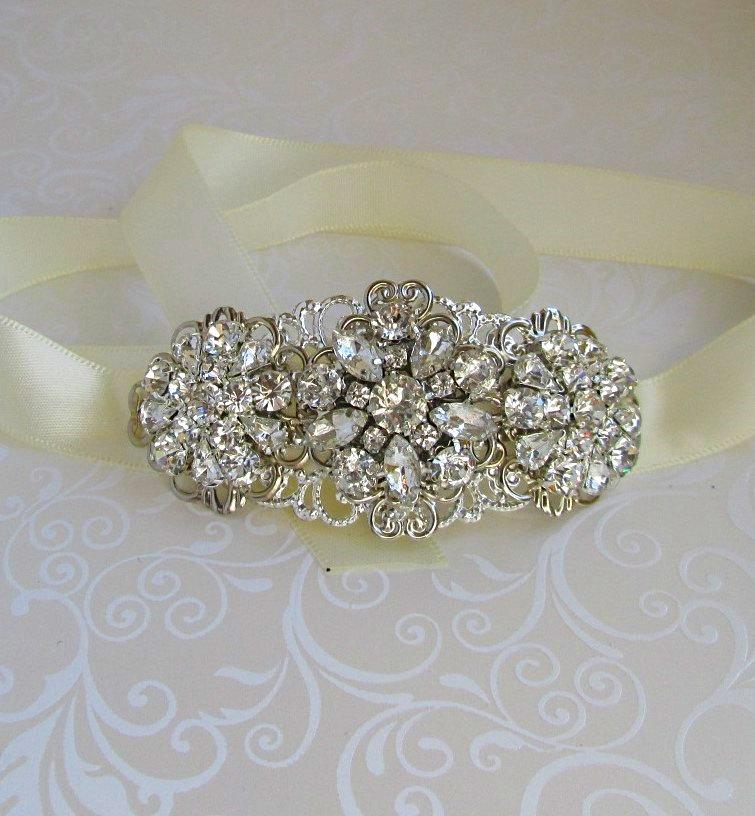 Свадьба - Wedding Headband bridal headpiece crystal hairpiece silver Headband rhinestone wedding hair accessory bridal Headband