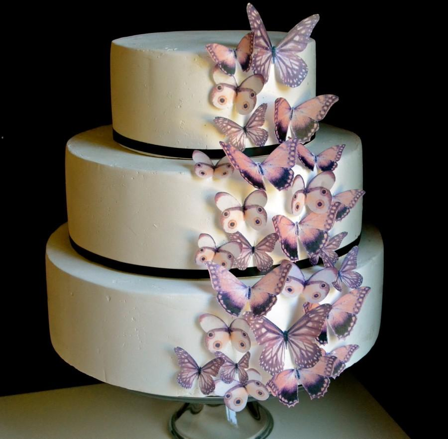 Hochzeit - Wedding Cake Topper EDIBLE Butterflies The Original - Brown Earth Tones set of 30 - Cake & Cupcake toppers - PRECUT and Ready to Use
