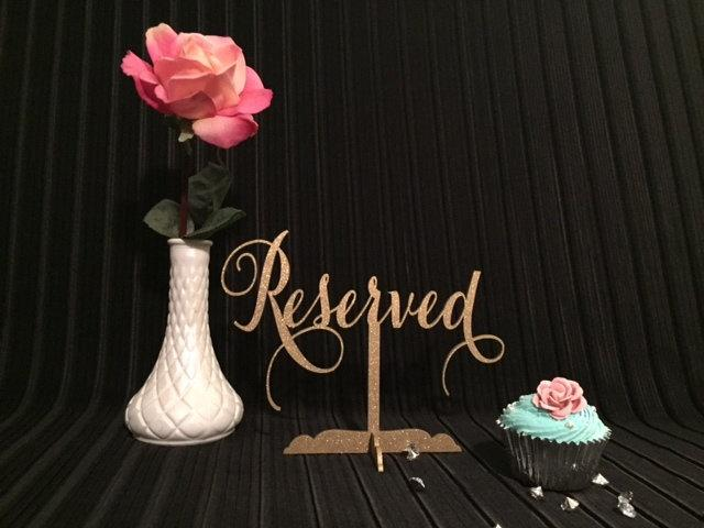 Wedding - Reserved Sign, Reserved Table Sign, Reserved Sign for Wedding, Wedding Reserved Sign, Reserved for Family, Reserved Wedding Sign,
