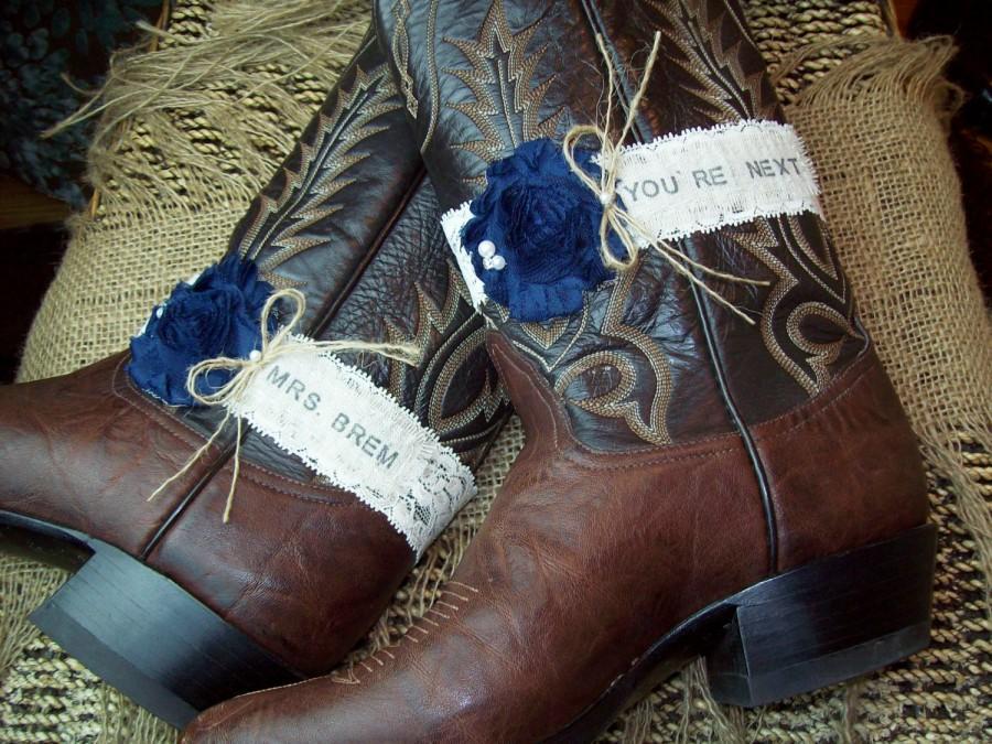 Свадьба - Rustic Garter Set ,Pick Your Flower Color,Monogrammed Garter Set ,Rustic Wedding Garter Set,Wedding Garters