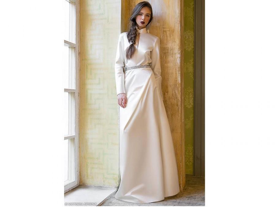 Свадьба - Wedding dress with sleeve wedding dress Long sleeves Wedding dress with long sleeve wedding dress Bohemian wedding dress Alternative