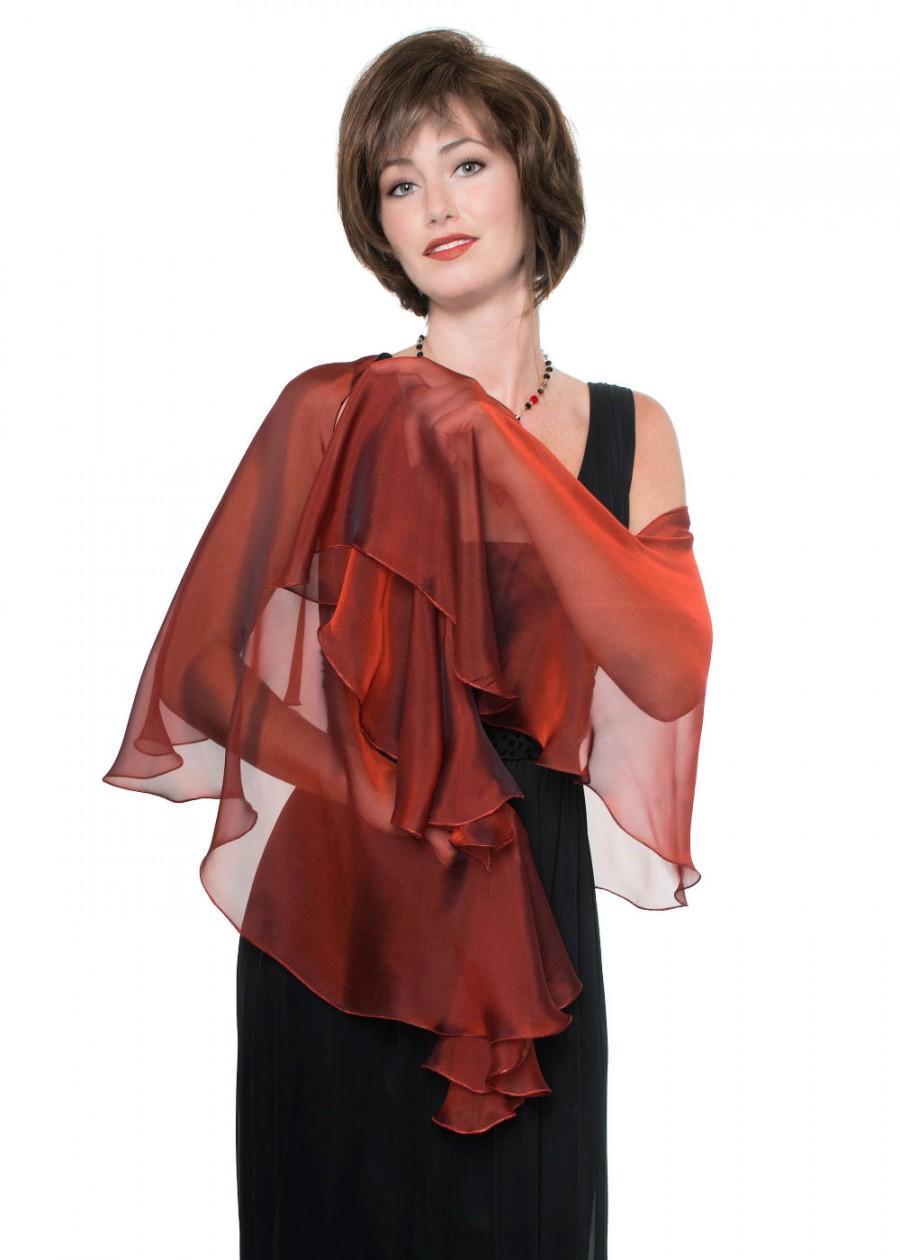 Mariage - Promo Sale Venetian Red  Silk Wrap