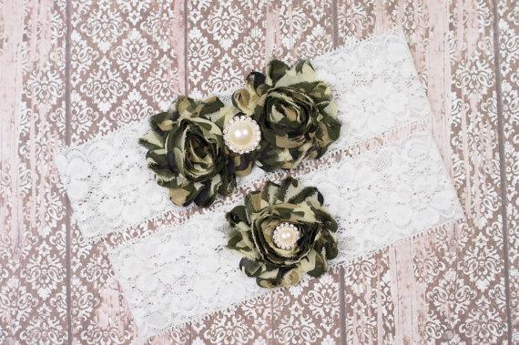 Свадьба - Wedding Garter, Camo Garter Set, Bridal Garter Set, Camo Wedding Garter, Bridal Garter Set, Camo Garter, White Lace Garter, Bridal gift