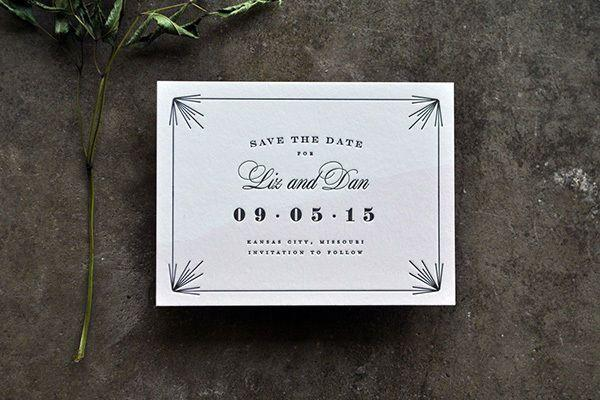 Свадьба - 12 Vintage Save The Dates That Will Charm You