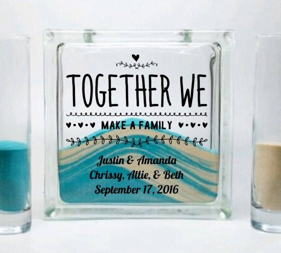 Wedding sand set for blended family unity candle alternative