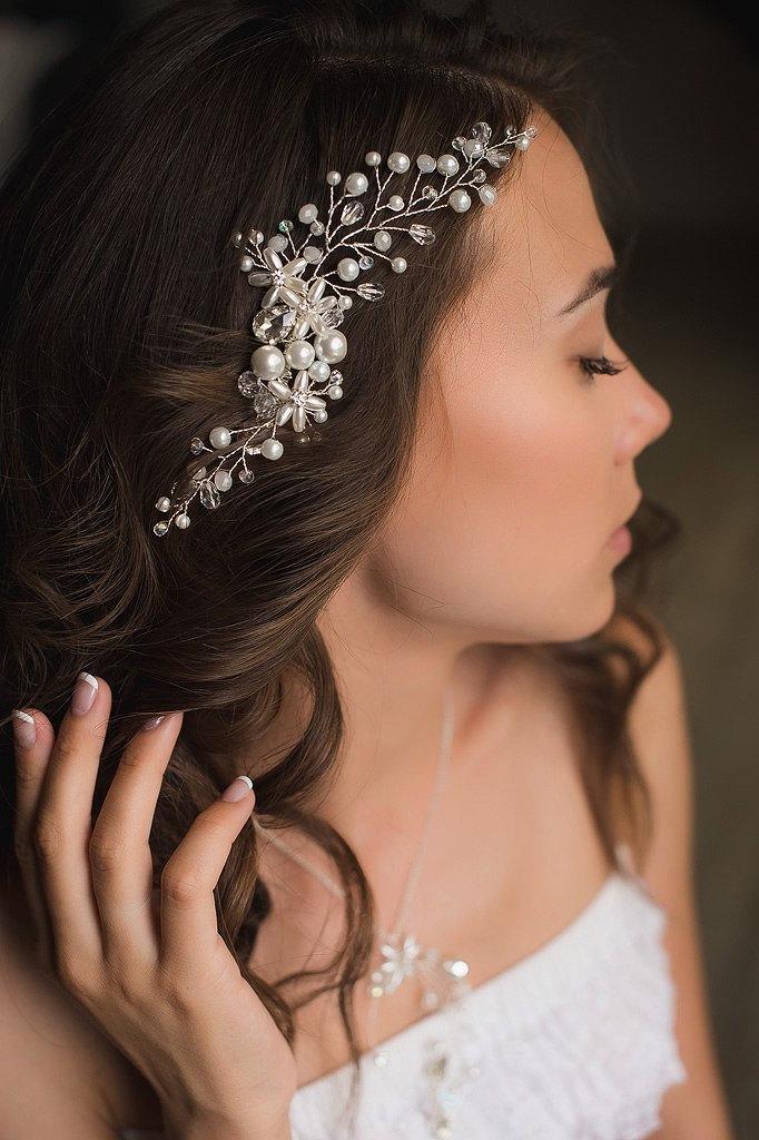 Wedding - Bridal hair comb. Wedding hair comb. Pearl hair comb Wedding headpiece Hair accessories. Bridal Hair piece Wedding comb Wedding Head piecewe