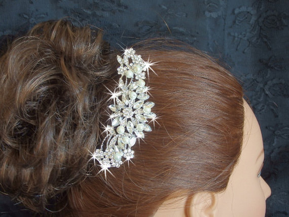 Boda - Hair comb for Weddings, Pearl bridal hair comb, wedding hair accessories, bridal accessories, crystal hair comb for brides, haircomb