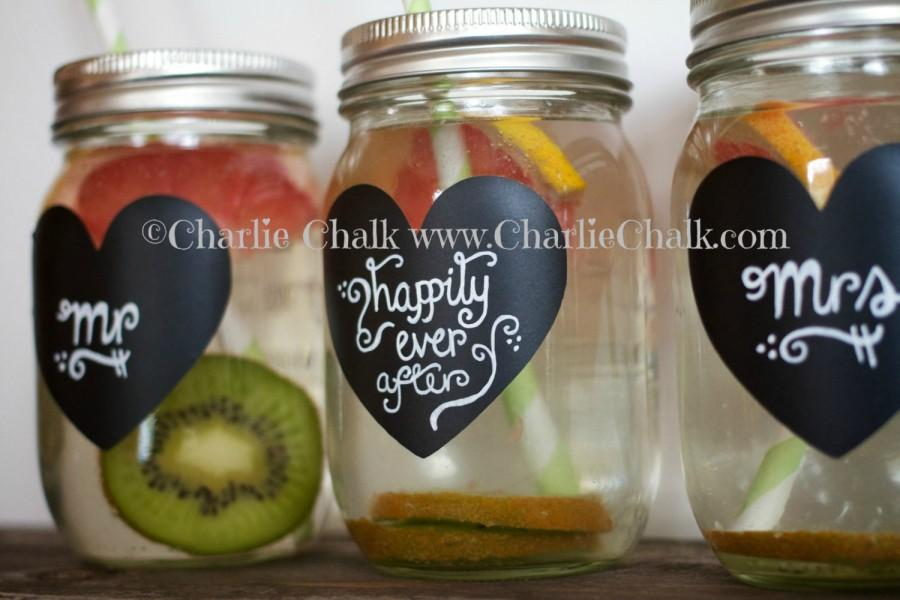 Wedding Favor Labels 50 Blank Chalkboard For Mason Jars Personalized Jar Made In The Usa